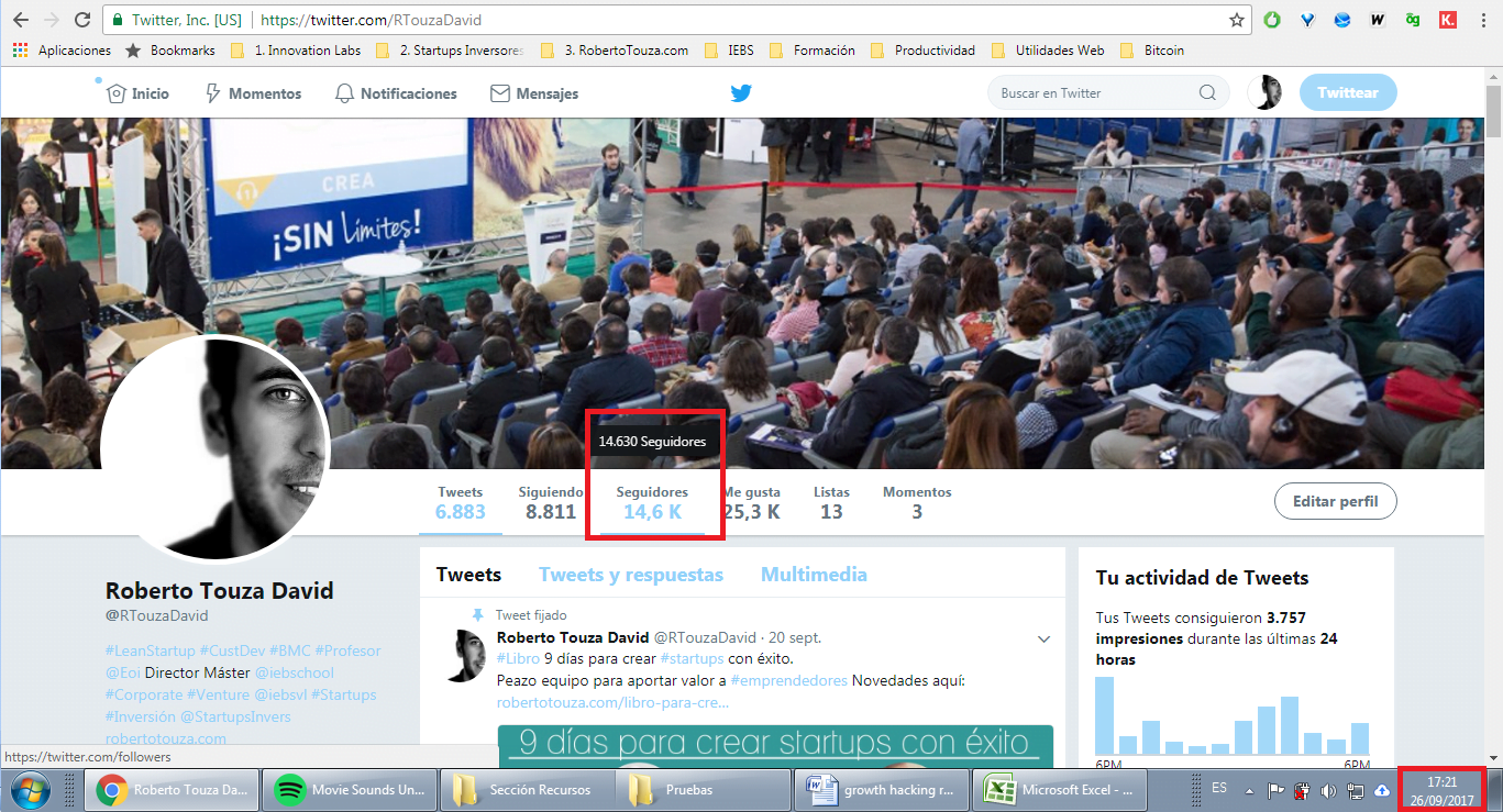 growth hacking redes sociales roberto touza david twitter perfil septiembre