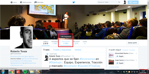 growth hacking ejemplo roberto touza david twitter perfil